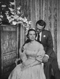 Vintage Wedding - Director Sidney Lumet with his bride Gloria Vanderbilt in 1956 from http://silverscreenoasis.com/oasis3/viewtopic.php?f=22=2630=audrey+hepburn=585