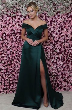 Sale Comfortable Green Prom Dress Off The Shoulder Mermaid Prom Dresses Sexy Thigh Split Green Formal Dresses Green Evening Dress, Cheap Evening Dresses, Cheap Dresses, Green Dress, Sexy Dresses, Evening Gowns, Beautiful Dresses, Green Formal Dresses, Strapless Dress Formal