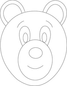 Exceptional Bear Mask Printable Coloring Page For Kids: Bear Mask Printable Coloring  Pageu2026