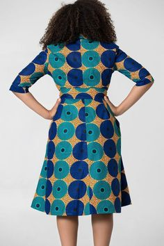 Shop Grass-fields African Print Fashion - African Print Yakira Midi Dress to look effortlessly cool. It& bold and beautiful, perfect for any social occasion! African Fashion Ankara, Latest African Fashion Dresses, African Print Fashion, Short African Dresses, African Print Dresses, African Print Dress Designs, African Traditional Dresses, African Attire, Wax