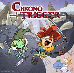 Come on grab your swords, we're going to very distant times. With Glenn the frog and Crono the human, the world will never end it's Chrono Trigger time! Chrono Trigger, Chrono Cross, Arte Nerd, Design Comics, Legend Of Zelda, Final Fantasy, Adventure Time, Game Art, Nerdy