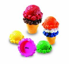 Amazon.com: Smart Snacks Rainbow Color Cones: Toys & Games  could make these out of fabric or crochet...  ~SH