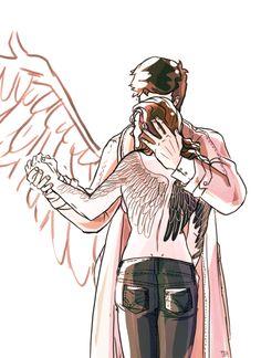 Castiel and Meg Destiel, Johnlock, Supernatural Fan Art, Supernatural Cosplay, Winchester Boys, Misha Collins, First Dance, Superwholock, Sherlock
