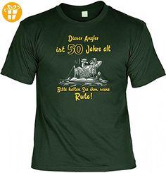 T-Shirt Set mit Minishirt - Dieser Angler ist 50 Jahre alt - Funshirt als Geschenk für Angler und Fans des Angelsports, Größe:XXL (*Partner-Link)