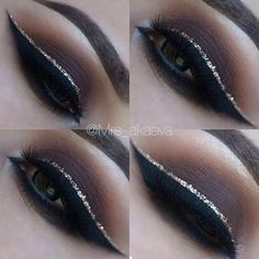Gorgeous dramatic eye makeup, winged liner ideas #perfectwingedliner