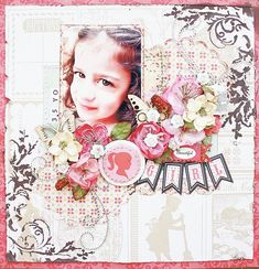 Beautiful Girl - Echo Park This  That - Scrapbook.com  Wendy Schultz via Nadia Cannizzo onto Scrapbook Art.