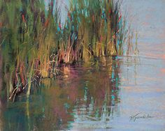 Cattails by Barbara Jaenicke Pastel ~ 8 x 10