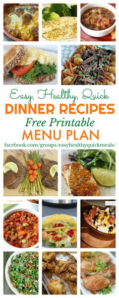 Save time and money by planning your meals. Start 2018 with easy, healthy and quick dinner recipes. Get our free printable menu plan for January 2018