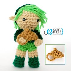 Saria from Zelda Ocarina of Time Crochet by CyanRoseCreations, $28.00