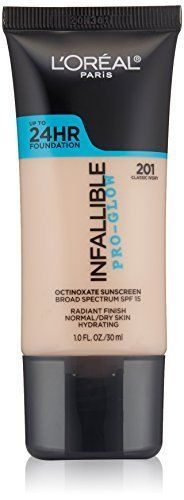 LOreal Paris Cosmetics Infallible Face Pro-Glow Foundation, Classic Ivory, 1