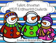 """Tallest+Snowman+STEM+Engineering+ChallengeAre+you+interested+in+ways+to+incorporate+STEM+into+the+holiday+season?+Do+you+need+a+fun+way+to+get+your+kids+moving+on+a+cold,+winter+day?This+unit+includes:Teacher+tips+pageEngineering+process+posterProblem+prompt+pageChallenge+rulesEngineering+design+process+recording+pageResults+questions+pageData+collection+pageMath+problems+pageWere+you+successful+graph+The+""""T""""+in+stem+technology+tips+page.This+product+comes+BUNDLED!"""