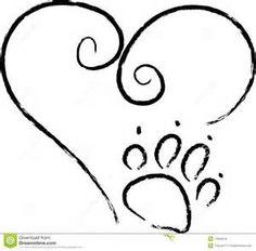 Dog Paw Heart Clip Art | Clipart