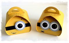 Minions designed and made by Tracey Grundy - Independent Stampin' Up! Demonstrator using the Curvy Keepsakes die Characteristic mouths have been drawn on.