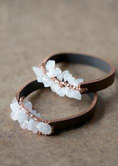 easy leather bracelet tutorial