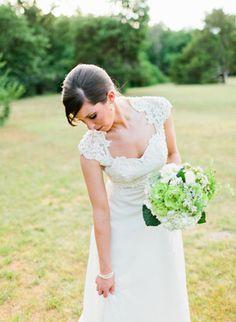 beautiful lace #wedding gown   Daniel Kim