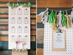 clipboard pegboard seating chart | photo by Kirsten Julia Photography