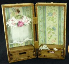how to: miniature doll trunk and dress