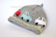 Baby Knitting Patterns Baby Beanie 'Little Cars' Knitting pattern by Little Pickle … Baby Knitting Patterns, Love Knitting, Intarsia Knitting, Knitting For Kids, Baby Patterns, Knitting Projects, Hand Knitting, Crochet Patterns, Intarsia Wood