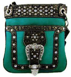 Western Cowgirl Rhinestone Belt Crossbody Messenger Bag Purse 8 Color Options | eBay