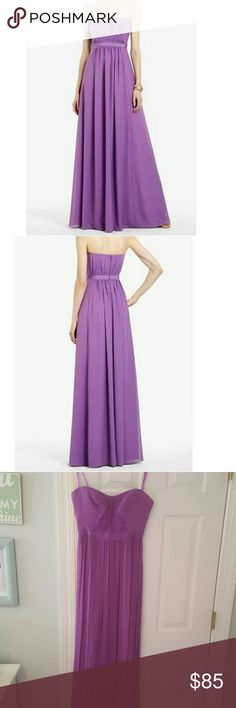 BCBGMAXAZRIA Amber Dark Iris Sweetheart Dress New with tags. Beautiful dress. Has strap attached if you do not want to wear strapless. BCBGMaxAzria Dresses