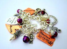 CharmCharmLaCharm  Hand Stamped Charm Bracelet  by ShinyMetals, $83.00