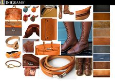 Inspiration board for new series of equestrian designs.