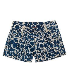 Love this Navy & Cream Floral Shorts by YH on #zulily! #zulilyfinds