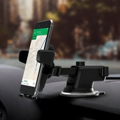 iOttie Easy One Touch 3 Car Mount Universal Phone Holder for iPhone X Plus 7 7 Plus Plus 6 SE Samsung Galaxy Plus Plus Edge Note 8 Cell Phones & Accessories T Mobile Phones, Best Mobile Phone, Best Cell Phone, Samsung Galaxy S8 Edge, Smart Car Accessories, Phone Accessories, Walpaper Black, Mobile Holder, Car Gadgets