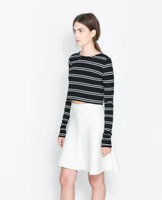 ZARA -  STRIPED CROPPED SHIRT - Love my stripes :-)