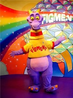 From the World of Imagination at Epcot!  (Figment... of your imagination). Blast from the PAST!