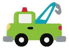 INSTANT DOWNLOAD Tow Truck Machine Embroidery Design
