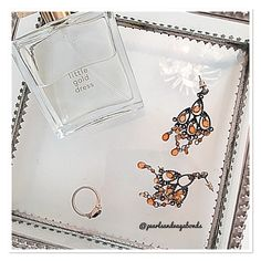 #Tuesday #details - @avonuk #littlegolddress #perfume @newlookfashion #chandelier #earrings and a #blackstone #ring which I cannot think for the life of me where it's from 🙈 #jewellery #cosmetics #beauty #accessories #costumejewellery #finerthings #fashion #fblogger #pearlsandvagabonds