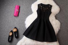 Sexy Black Homecoming Dress,Black Short Prom Dress,Custom Made