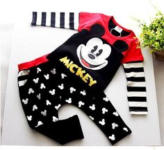 Mickey Mouse boy two piece outfit winter summer autumn cotton clothes for boys and girls  frozen disney inspired fashion mom prince sweater by hazelandmabel@gmail.com