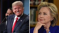 The survey finds Trump with 45 percent support and Clinton with 40 percent.