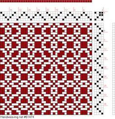 draft image: Threading Draft from Divisional Profile, Tieup: P. Falcot: Traité Encyclopedique et Méthodique de la Fabrication Des Tissus, Draft #44979, 4S, 4T Weaving Designs, Weaving Projects, Weaving Patterns, Tablet Weaving, Weaving Art, Loom Weaving, Fabric Manipulation Techniques, Weaving Techniques, Tapestry Loom
