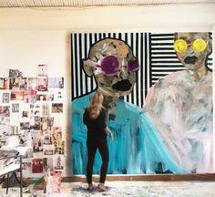 Erin Armstrong Art- In studio
