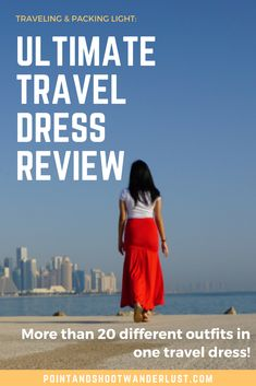 Looking for a way to pack and travel light? Then Kameleon Rose's Ultimate Travel Dress is for you! Packing Tips For Travel, Travel Advice, Travel Essentials, Packing Ideas, Europe Packing, Travel Checklist, Best Travel Clothes, Travel Outfits, Travel Must Haves