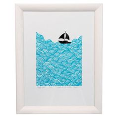 Mengsel Bigger Boat Print. Luzelle van der Westhuizen's work is inspired by geometric and hand-drawn patterns, as well as African and Scandinavian design.