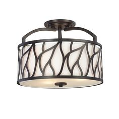 Shop Designers Fountain  83711-ART Modesto Semi Flush Ceiling Light w/ Fabric Shade at ATG Stores. Browse our semi flush ceiling lights, all with free shipping and best price guaranteed.