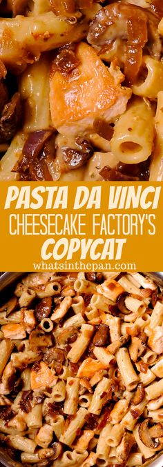 Cheesecake Factory's Pasta Da Vinci - - Cheesecake Factory's Pasta Da Vinci Yummy! Cheesecake Factory's Pasta Da Vinci is a delicious and surprisingly easy copycat recipe, packed with flavor from Madeira wine, sautéed mushrooms and garlic. The Cheesecake Factory, Chicken Madeira Cheesecake Factory, Louisiana Chicken Pasta, Copykat Recipes, Chilis Copycat Recipes, Restaurant Recipes, Food Dishes, Dishes Recipes, Recipies
