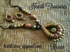 Terracotta Fancy Jewellery, Funky Jewelry, Jewelry Model, Simple Jewelry, Clay Jewelry, Handmade Jewelry, Fashion Jewellery, Teracotta Jewellery, Terracotta Jewellery Designs
