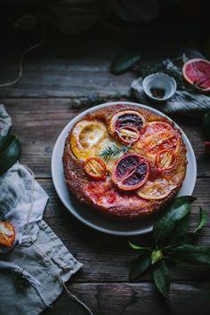 Winter Citrus Upside Down Cake Recipe by Eva Kosmas Flores | Adventures in Cooking