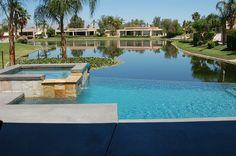 Infinity edge pool, overlooking the lake  Palm Desert (St Augustine)
