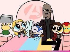 funny celebrity pictures - The Powerpuff Avengers