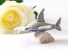 Hammerhead Shark, Crochet Miniature, Shark Gift for Boy, Shark Wall Art, Shark Room Decor, Shark Decor, Christmas Gift, READY TO SHIP by RoseValleyVilaga on Etsy