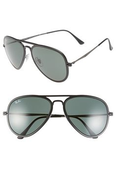 Ray-Ban 'TECH Light-Ray' 56mm Aviator Sunglasses available at #Nordstrom