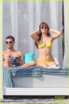 Shirtless Jamie Dornan & Bikini-Clad Dakota Johnson Film 'Fifty Shades' Beach Scene!: Photo #3704244. Jamie Dornan shows off his ripped shirtless body while filming the (spoiler alert) honeymoon scene for Fifty Shades Freed on Tuesday (July 12) in Saint-Jean-Cap-Ferrat,…