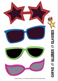 Haz tus complementos para disfraces. Divertidas gafas para completar el disfraz de carnaval o para fiestas de cumpleaños. Disfraces para niños! -- Make your costume accessories. Funny glasses to complete the costume carnival or birthday parties. Costumes for Children!