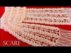 Como tejer fácil y rápido bufanda o chalina en puntos originales a crochet- knit easy crochet - YouTube